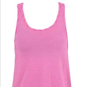Nux pink tank with side detail